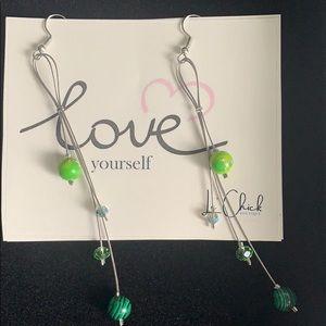 Handmade Sage green earrings
